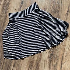 High waisted striped circle skirt- S